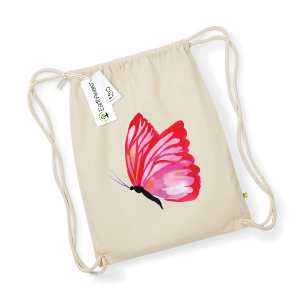 Vreca natur - crveni leptir