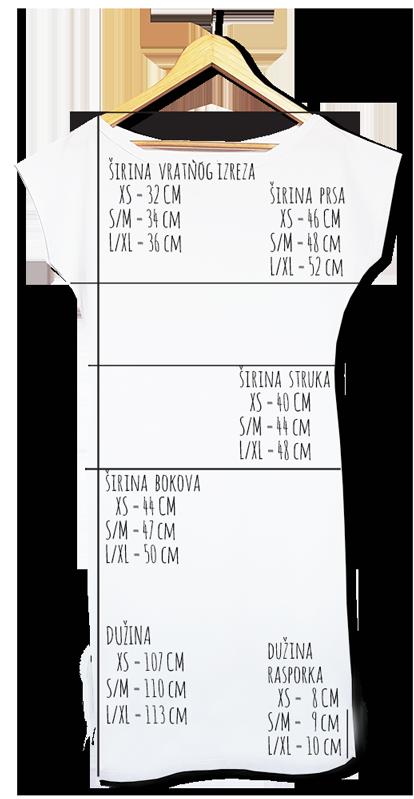 Dimenzije duge haljine