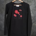 majica dugi rukavi sweatshirt flowers